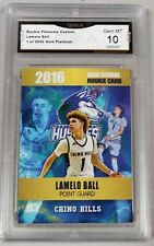 LAMELO BALL 2016 FIRST GOLD PLATINUM CHINO HILLS HIGH SCHOOL RC GMA GRADED 10