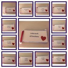 Little Book Of Vouchers Valentine's Day Boyfriend Birthday/ Gift Handmade