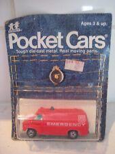Vintage TOMY Pocket Cars EMERGENCY CHEVY VAN 1:64 Sealed NIP 1977 - Japan