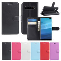 For Telstra Samsung Galaxy S10 5G Premium PU Leather Wallet Flip Case Cover OZ