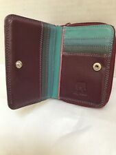 MYWALIT Bi-Fold Compact  Leather Clutch Wallet Coin Holder  EUC