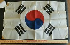 Rare Korean War Flag Vintage Korea Korean Great Shape !
