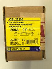 Nib Square D Qbl22200 Circuit Breaker 240V 2 Pole 200 Amp