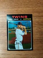 """JAKE CAVE (MINNESOTA TWINS) - 2020 TOPPS HERITAGE HIGH NUMBER """"SP"""" CARD #710"""