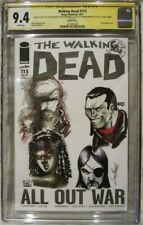 Walking Dead #115 CGC Graded 9.4 Sketch Cover Kincaid, Ramondelli, Meyers, Gomez