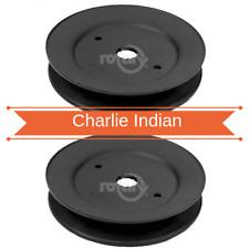 2 Pack Deck Spindle Mandrel Pulley Fits Ayp Husqvarna 173436 532173436 (7180)