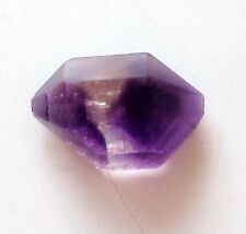 Rare!Natural Morocco Amethyst Double Point Specimen Rough w/ Red Hairs Hematite