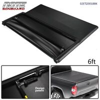 New For 2005-2015 Toyota Tacoma 6FT Tri-Fold Soft Truck Bed Tonneau Cover Black