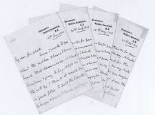 NORTH BERWICK 4x Letters from Colonel George Farie of Seacroft House c1909