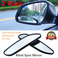 "Universal 5.24"" Large Adjustable Blind Spot Mirror Wide Angle Add On for Car"