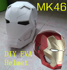 Avengers Iron Man MK46 DIY White Helmet EVA Material 1:1 Manual Model Toy Marvel