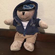 STARBUCKS Bearista Stuffed Bear 2007 Boston NWT Blue Hoodie Mint