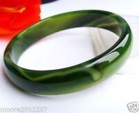 Beloved Natural beautiful green jade bracelet bangle big size 64~67mm