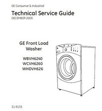 Ge Front Load Washer Service/Repair Manual