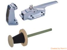 Chrome Fastener Lock Cold-Room Door Suitable  75mm - 119mm Door Thickness