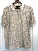 Bert Pulitzer Men's Polo Shirt Casual Golf Button-up Short Sleeve Size XL Leaves