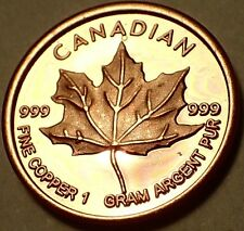KANADA MAPLE LEAF - KUPFERBARREN - KUPFER - ANLAGE - PP / PROOF