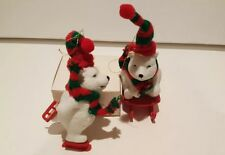 Vintage Silvestri Polar Bear Set of 2 Ornaments Cute!