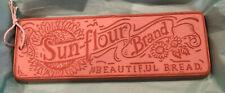 New listing Hill Design Sun-Flour Brand Beautiful Bread Clay Bun Warmer Tile Usa 1993