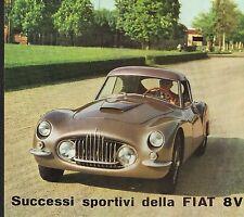 PUBBLICITA 1954 AUTO FIAT 8V CARROZZERIA VIOTTI VELOCITA' ELEGANZA DESIGN