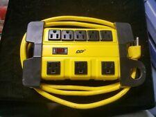 CCI CL-1827 8 Outlet Power Strip Yellow Metal