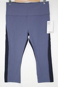 Athleta Women's Horizon Scallop Capri Legging Size Large Blue/Navy 566748