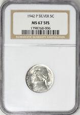 1942-P Jefferson Nickel Type 2 NGC MS-67 5FS