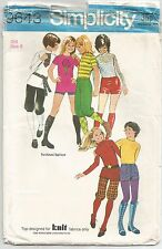 SIMPLICITY Vintage UNCUT SEWING PATTERN 9643 Girl's Top Shorts Knickerbockers 8y