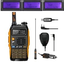 Neu Baofeng GT-3TP MarkIII 1/4/8W Dual UHF VHF Talky Walky w/ Haut Parleur Cable