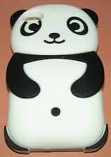 Cartoon Panda Design Heavy Silicone Case Apple iPhone 4/4s, Black & White color