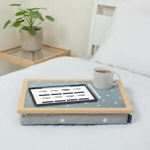 Bean bag lap tray cushioned multipurpose luxury Grey Stars Blue Badge Company