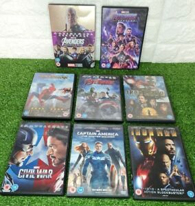 MARVEL AVENGERS DvD Bundle inc Infinity War, End Game, Civil War, Homecoming