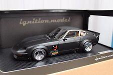 1:18 modelos de encendido IG0957 Nissan Fairlady 240ZG (HS30) Negro Mate Completa Funciona!