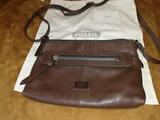 Fossil Cross Body Brown Leather Bag