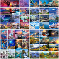 Scenery DIY Paint By Numbers Kit Digital Oil Painting Artwork Home Wall Decor