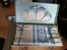 irish linen damask tablecloth napkins vintage boxed unused