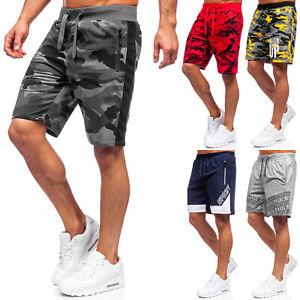 Shorts Bermudas Kurzhose Sporthose Kurze Slim Fit Men Motiv Herren Mix BOLF Camo