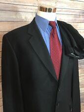 Joseph Abboud Black Birdseye Classic Fit 3 Button Wool Suit Men's Size 46L 34x30