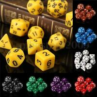 10 Pcs/Set Mini D4-D30 Multi-sided Sided Dices 8color TRPG Games Gaming Dices
