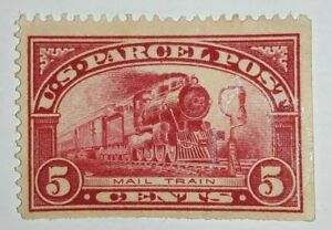 Travelstamps: 1912-13 U.S. STAMP PARCEL POST Q5 MAIL TRAIN 5 CENTS ,MINT, NG