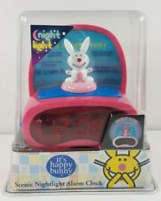 NIP Happy Bunny back lit night light alarm clock combo Sealed Jim Benton