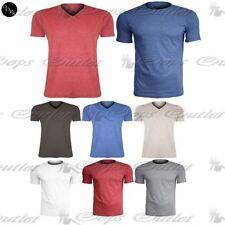 Unbranded Cotton V Neck Short Sleeve T-Shirts for Men