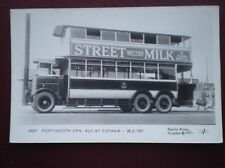 POSTCARD PORTSMOUTH CPN BUS AT COSHAM FEB 1927