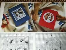 CROSS STITCH CHARTS 6 CAT DOG MOTIF CHARTS ONLY OLDER CHART  FROM 1995