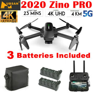 Hubsan Zino PRO 5G FPV Quadcopter 4K 12MP APP Drone 3Axis Gimbal+Battery+Bag