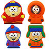 South Park PVC Pin Badge Set 4 Retro Cartoon Cartmen Kenny Butters Kyle Comedy
