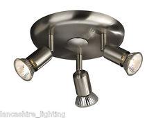Stylish Satin Chrome Three Light Spotlight Ceiling Light - 54003/17/10