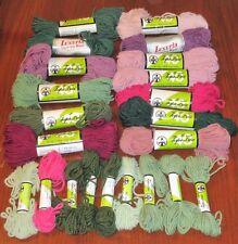 Lot of Vintage Bernat 100% Virgin Wool Tapestry Yarn Assort Colores Most 40 yds