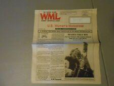 SUMMER 1996 U.S.WOMENS MOTOCROSS RACING TEAM NEWSLETTER,HUGHES WINS MT.MORRIS