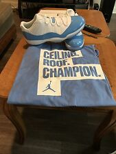 Air Jordan 11 Retro Low (UNC) Size 14 With Matching T Shirt